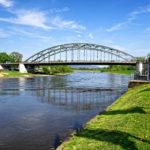 Weserbrücke in Rinteln, Deutschland