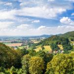 Blick von der Schaumburg im Weserbergland