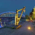 Alter Kran an der Weser in Rinteln