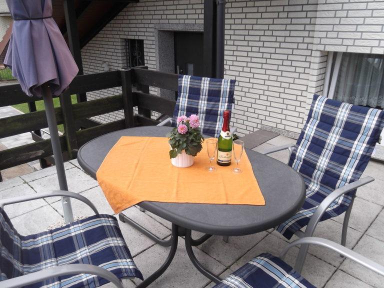 Ferienwohnung Mischer Terrasse